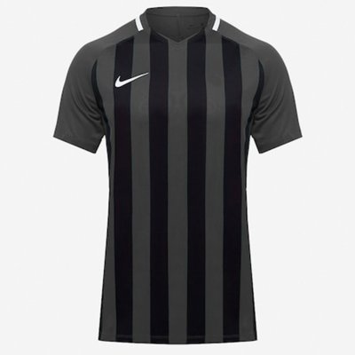 Футболка Men's Nike Striped Division III Football Jersey (серый, черный)