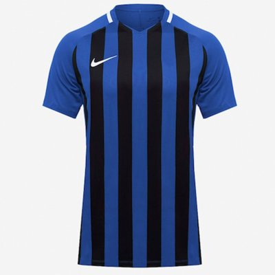 Футболка Men's Nike Striped Division III Football Jersey (темно-синий, черный)