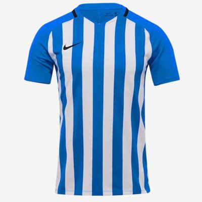 Футболка Men's Nike Striped Division III Football Jersey (белый, синий)